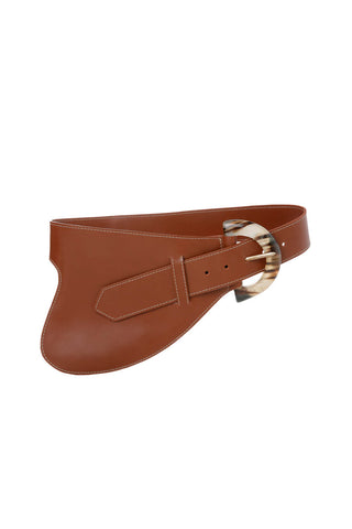 La Jefa Belt in Marron Leather