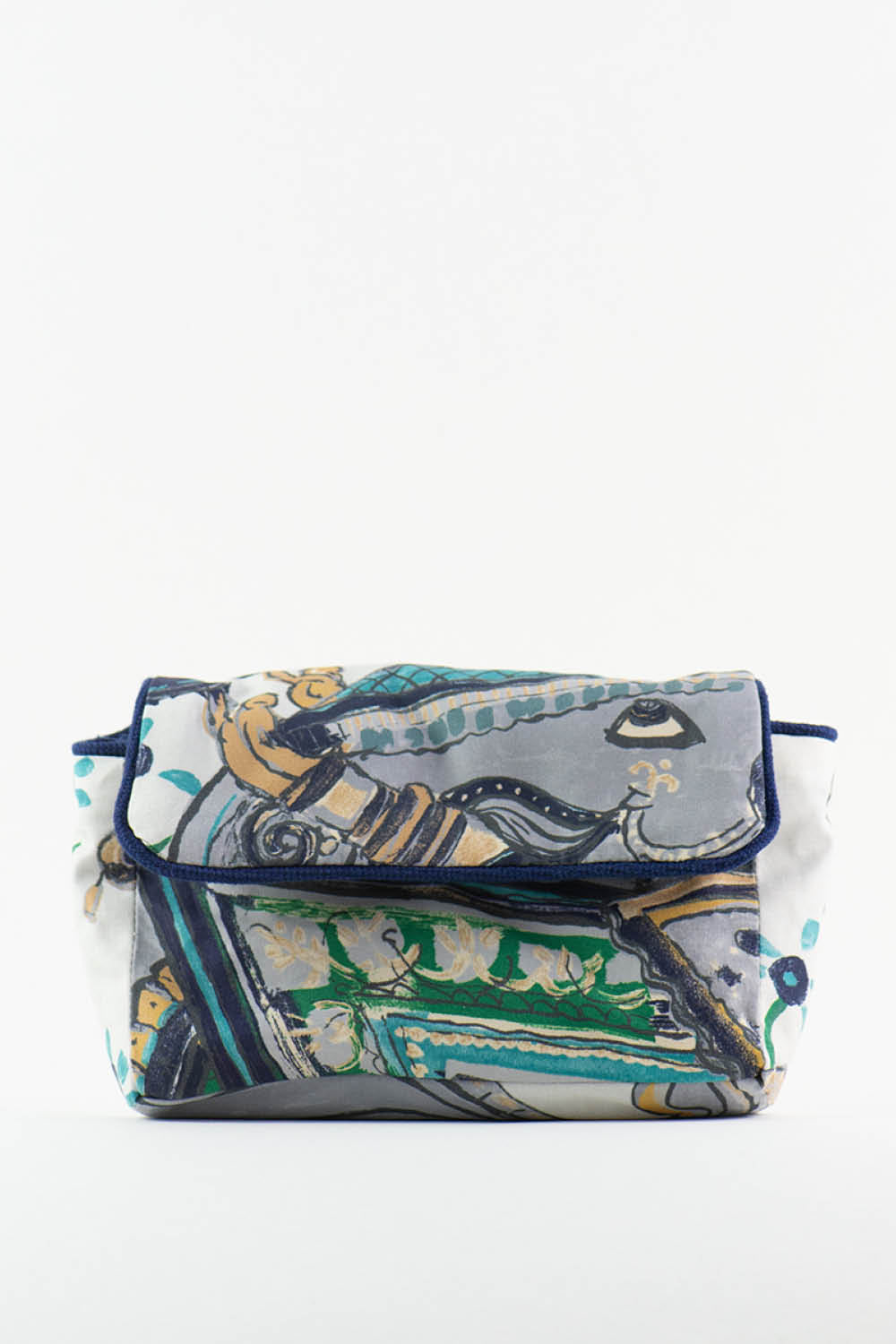 Upcycling Bag No. 4 in Blue Elephant