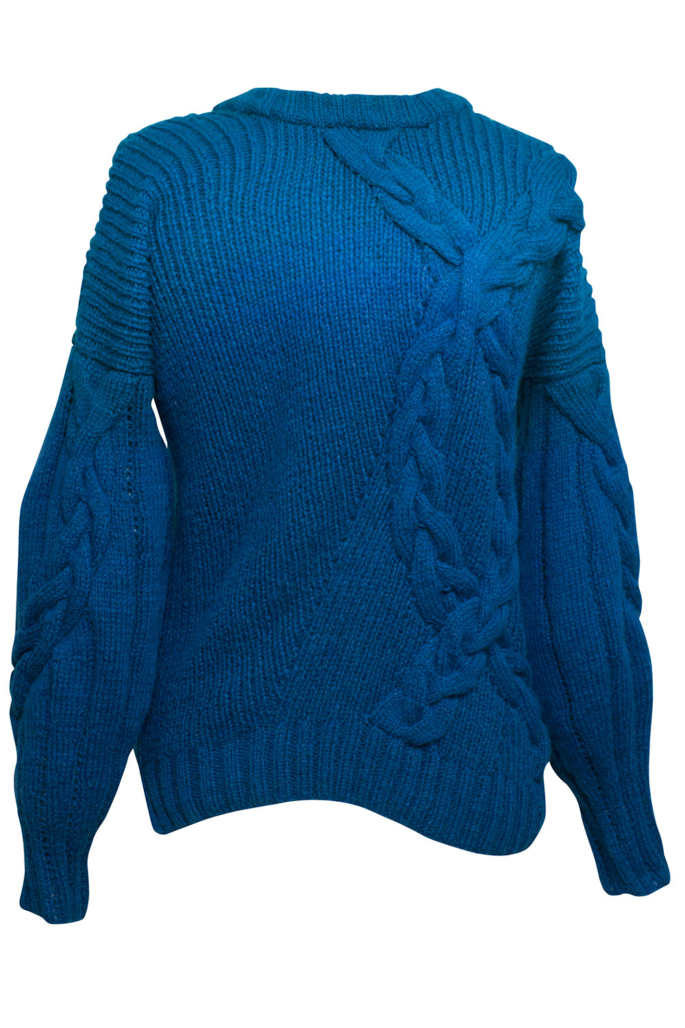 Juana Knit Cable Sweater in Blue Ombre
