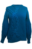 Juana Knit Cable Sweater in Blue Ombre thumbnail