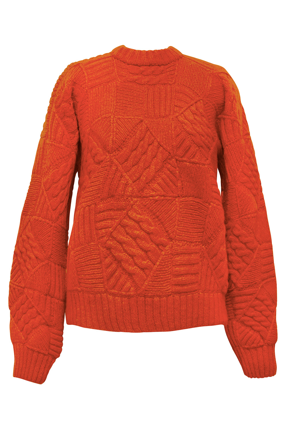Jose Knit His & Hers Patchwork Sweater in Orange
