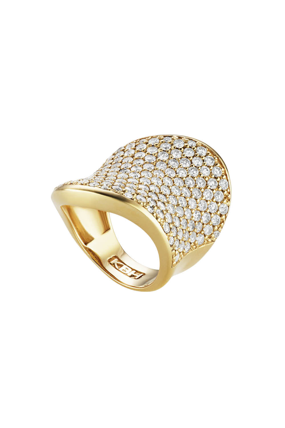 Wave Ring in Yellow Gold