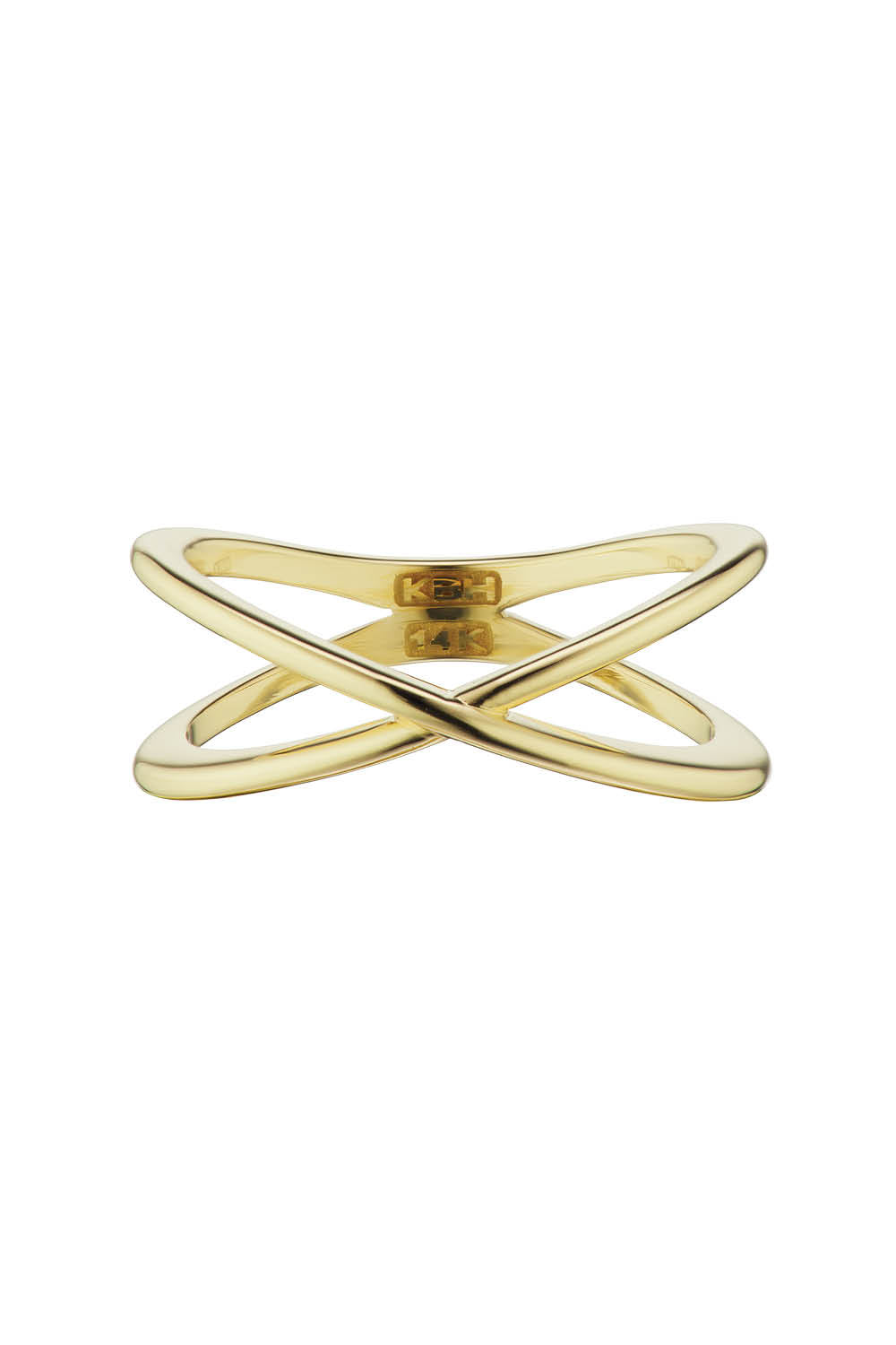 X Ring in Yellow Gold