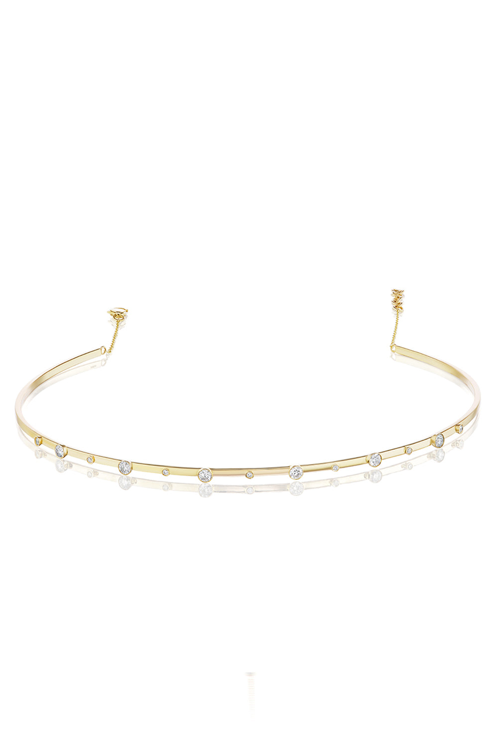 Bezel Stand Out Choker in Yellow Gold