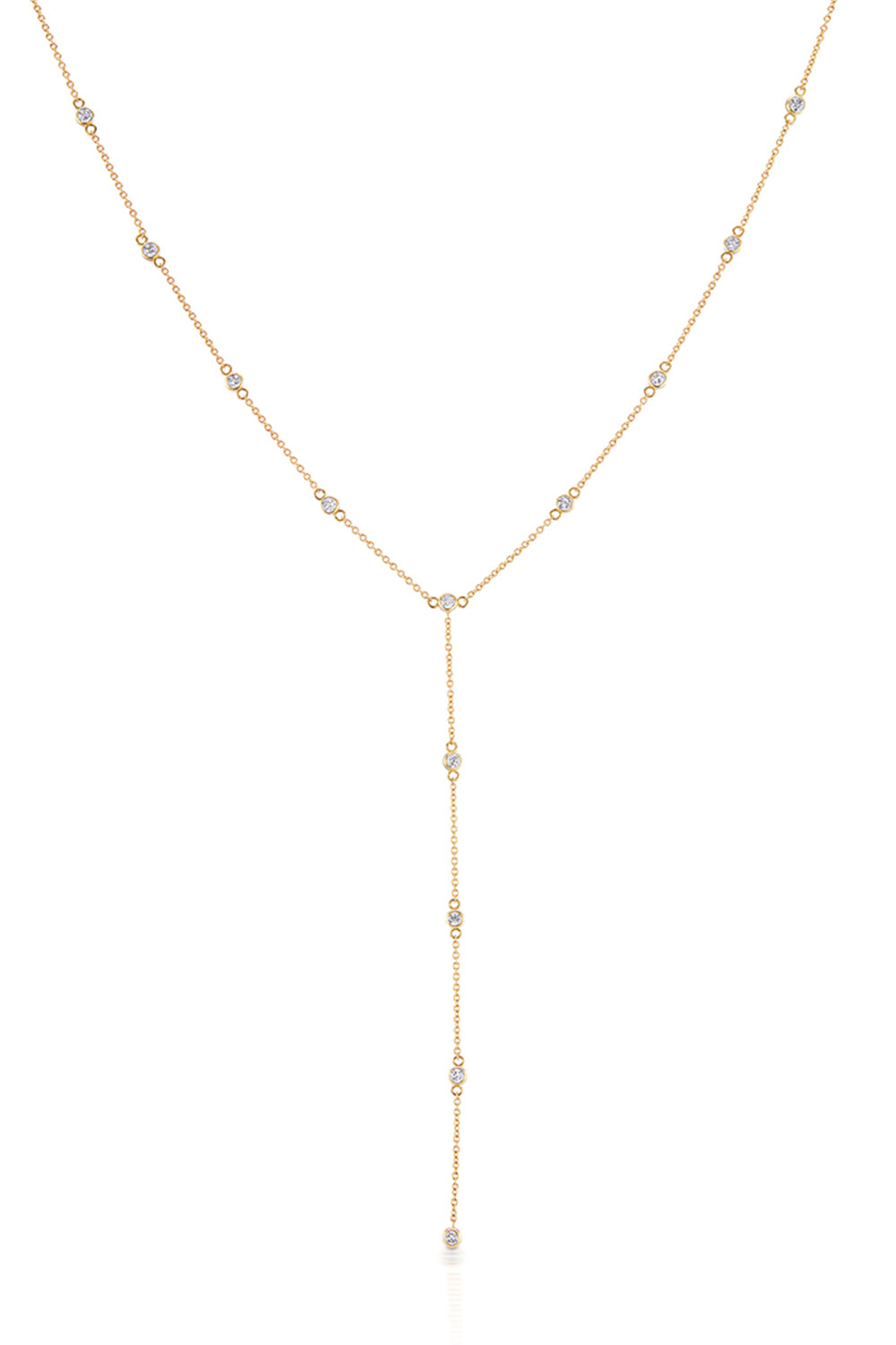 Lariat Classic Necklace in Yellow Gold