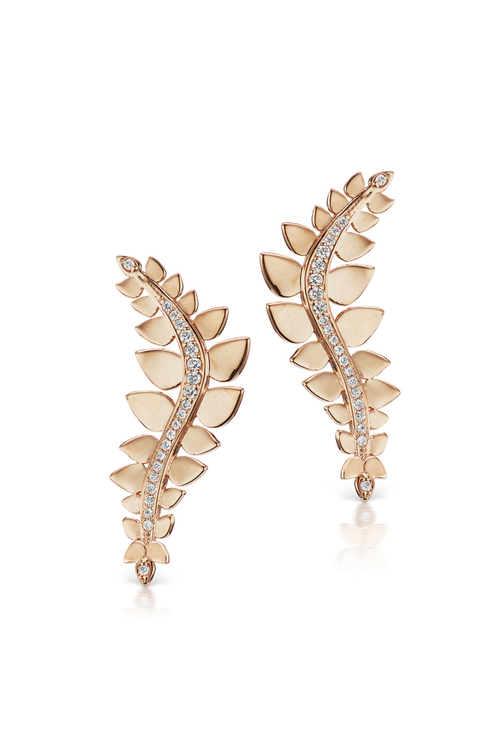 Leaf Climbers in Rose Gold