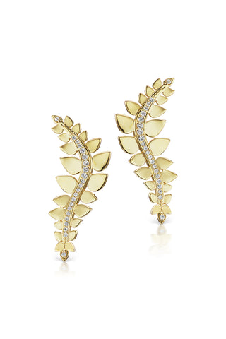 Leaf Climbers in Yellow Gold