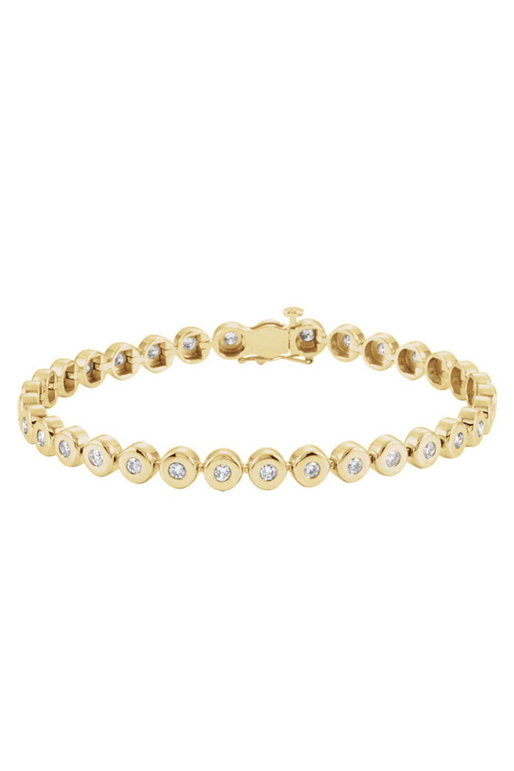 Magnum Bezel Bracelet in Yellow Gold