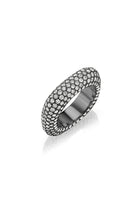 Square Bling Ring in Black Rhodium thumbnail