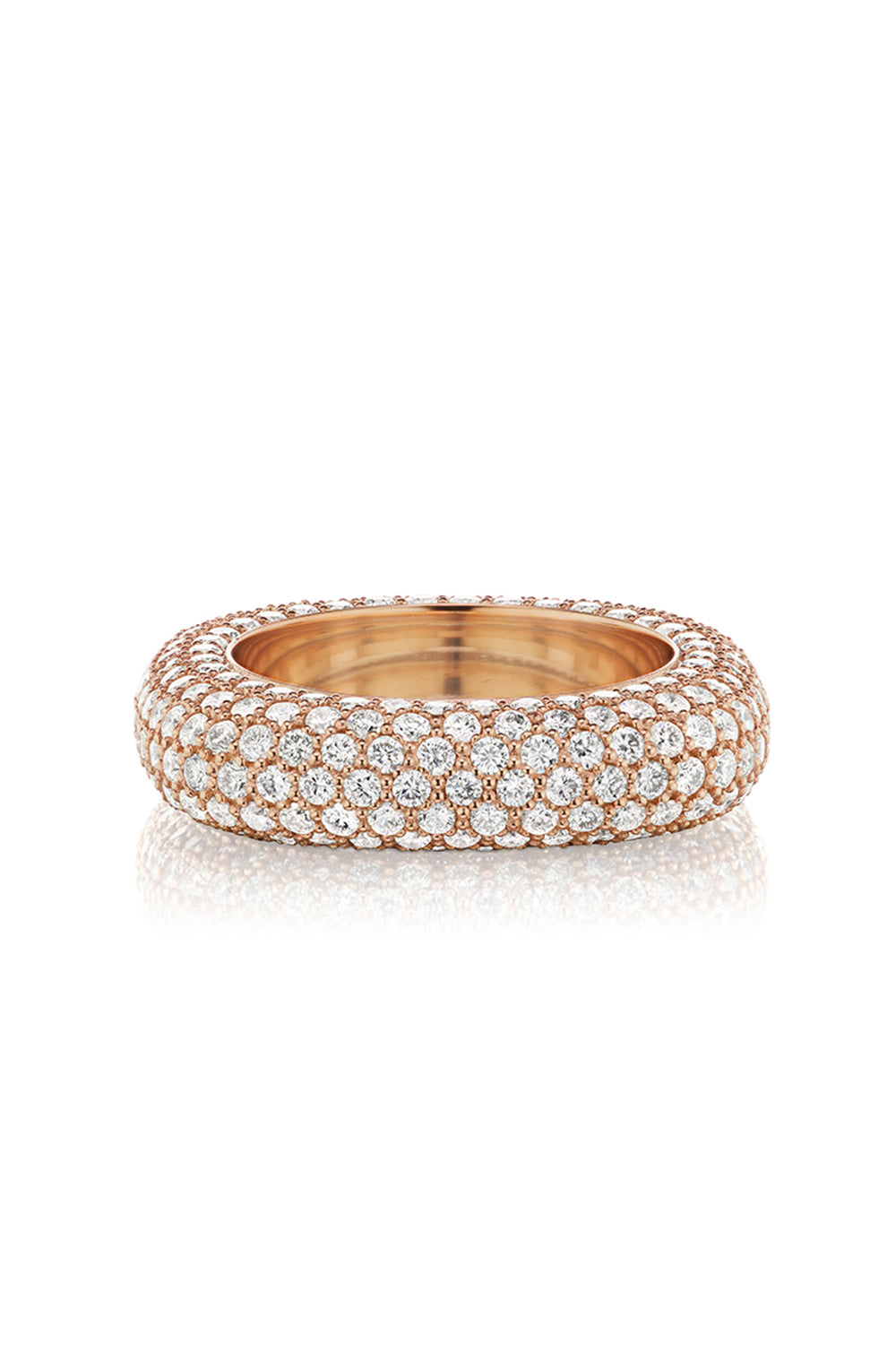 Square Bling Ring in Rose Gold