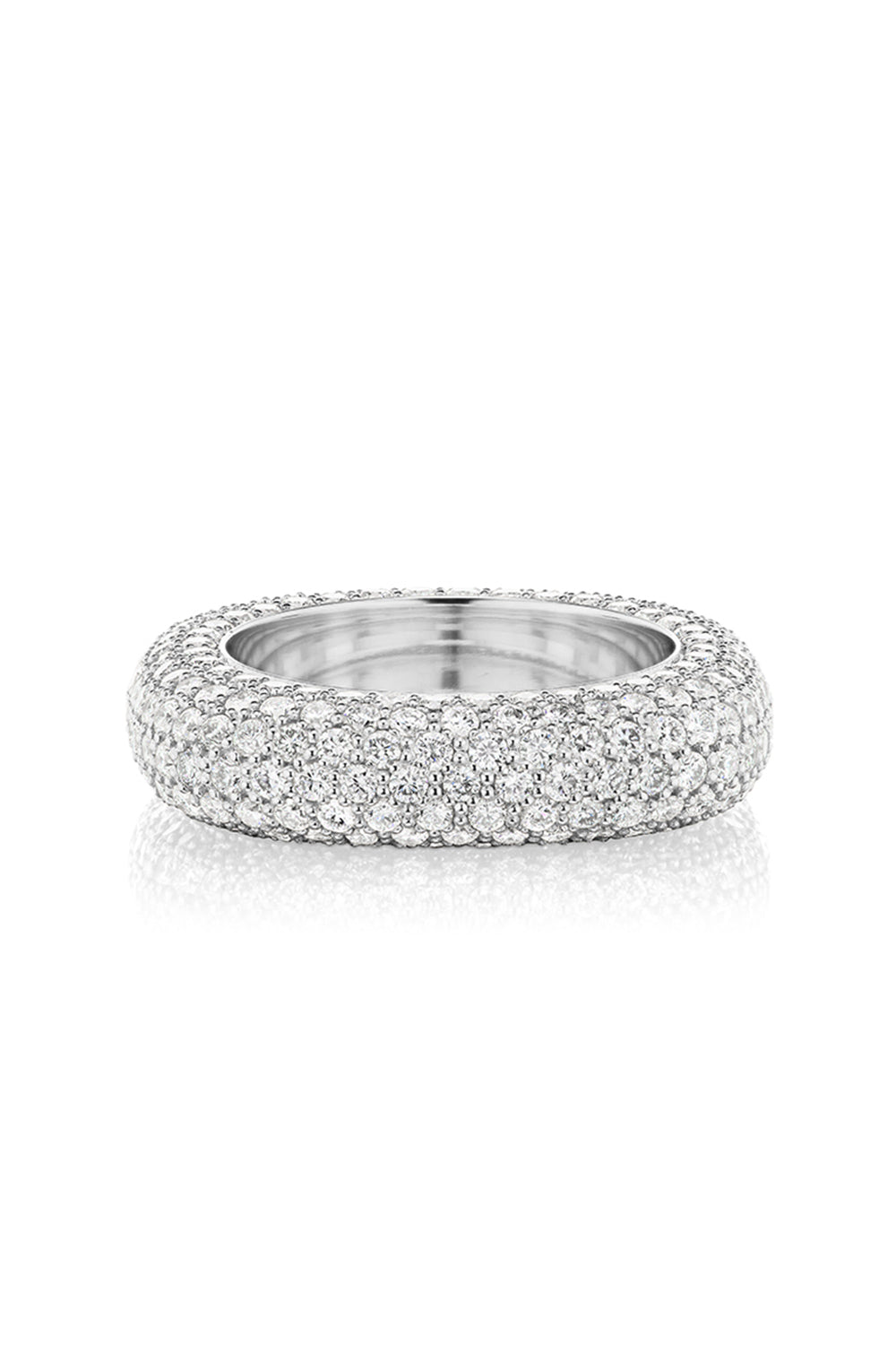 Square Bling Ring in White Gold