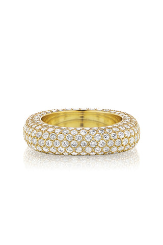 Square Bling Ring in Yellow Gold