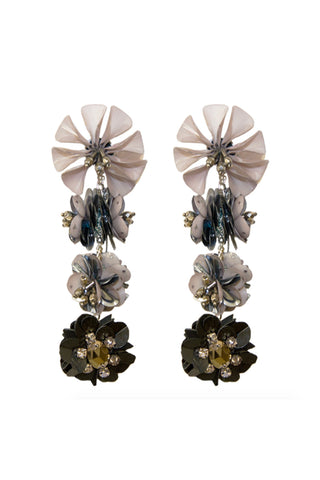 Karolina Earring in Grey & Black