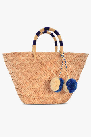 St Tropez Tote in Navy and Camel