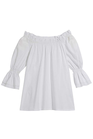 Brigitte Blouse in White
