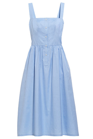 Daniela Top Stitch Maxi Dress in Blue