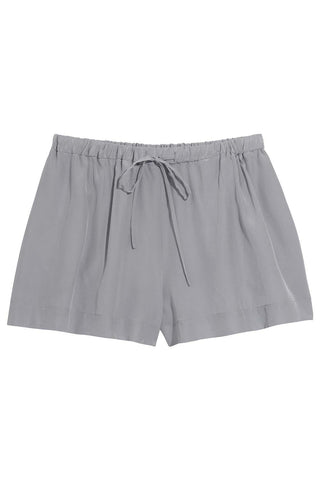 Nadia Drawstring Shorts in Grey