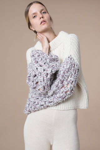 Libia Crop Sweater in Pastel
