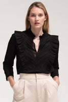 Linde Blouse in Black thumbnail