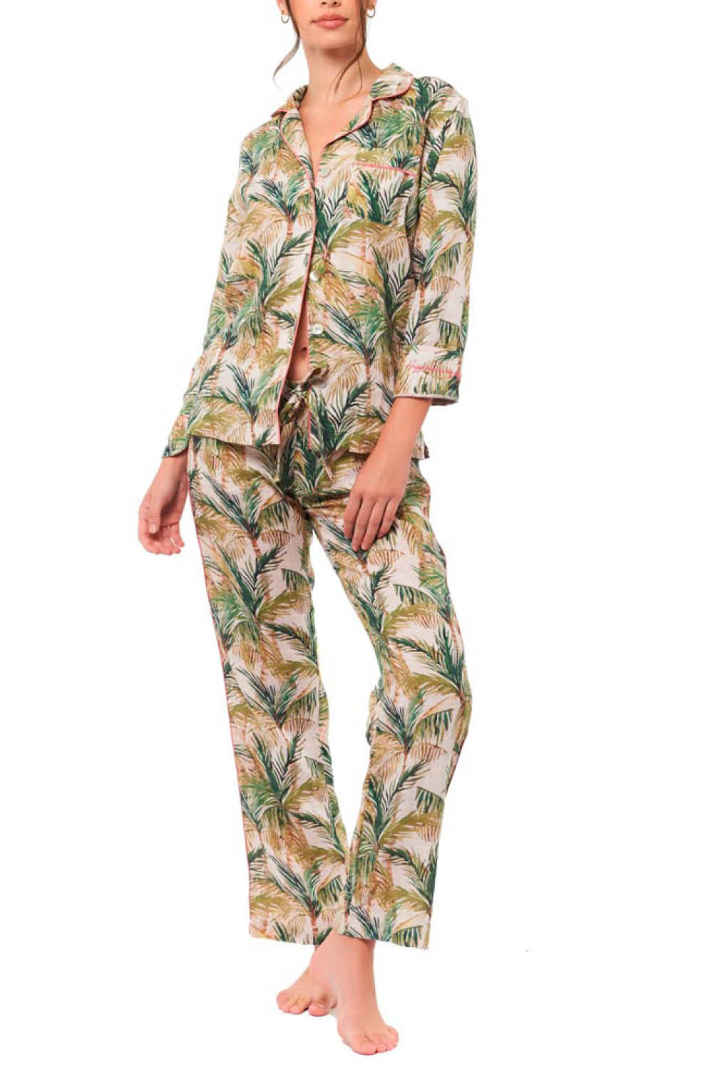 Emma Breezy Palms Pajama Set