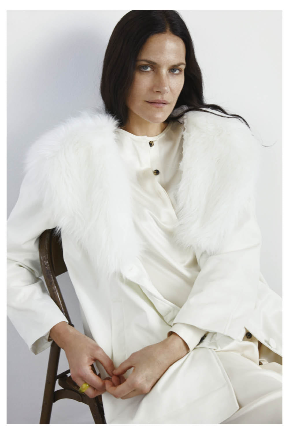 Lavatara Recycled Nylon Faux Fur Coat