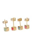 'O' CAMP Stud Earring in Bright Pink thumbnail