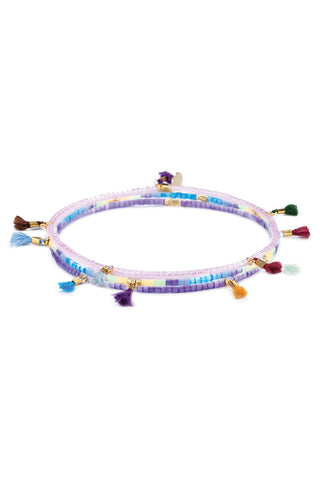 Lilu Waves Bracelet Set in Multi Purple