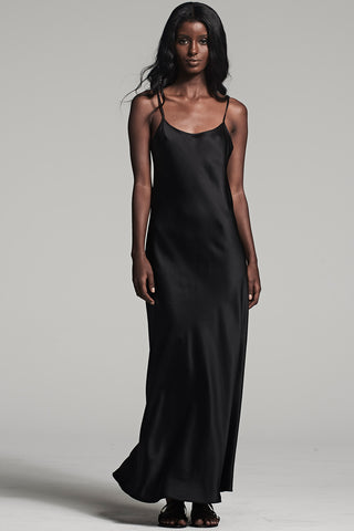 Liquid Silk Slip in Black