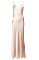 Liquid Silk Slip Dress in Blush thumbnail