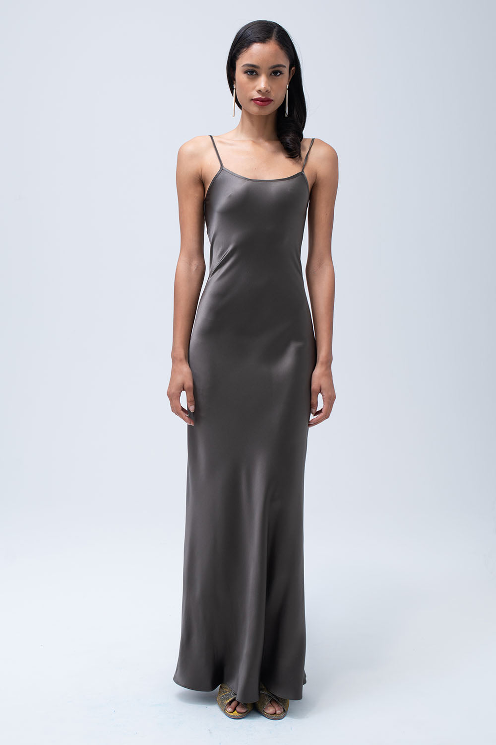Liquid Silk Slip in Slate