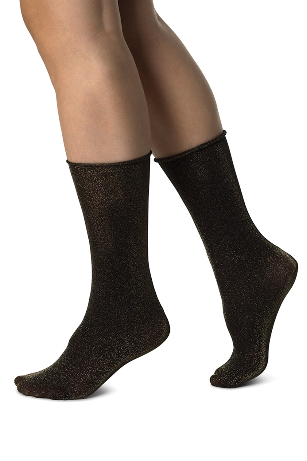 Lisa Shimmery Socks in Black-Gold