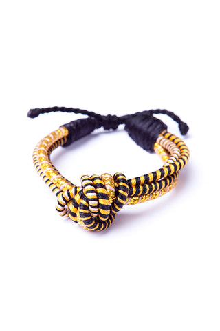 Love Knot Bracelet in Black & Gold