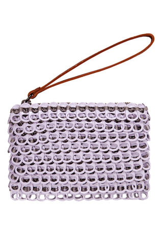 Luciana Mini Enamel Clutch in Lavender