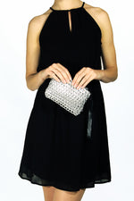 Luciana Mini Clutch in Gold thumbnail