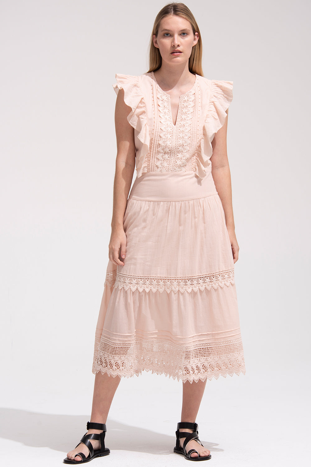 Lux Dress in Rosewater