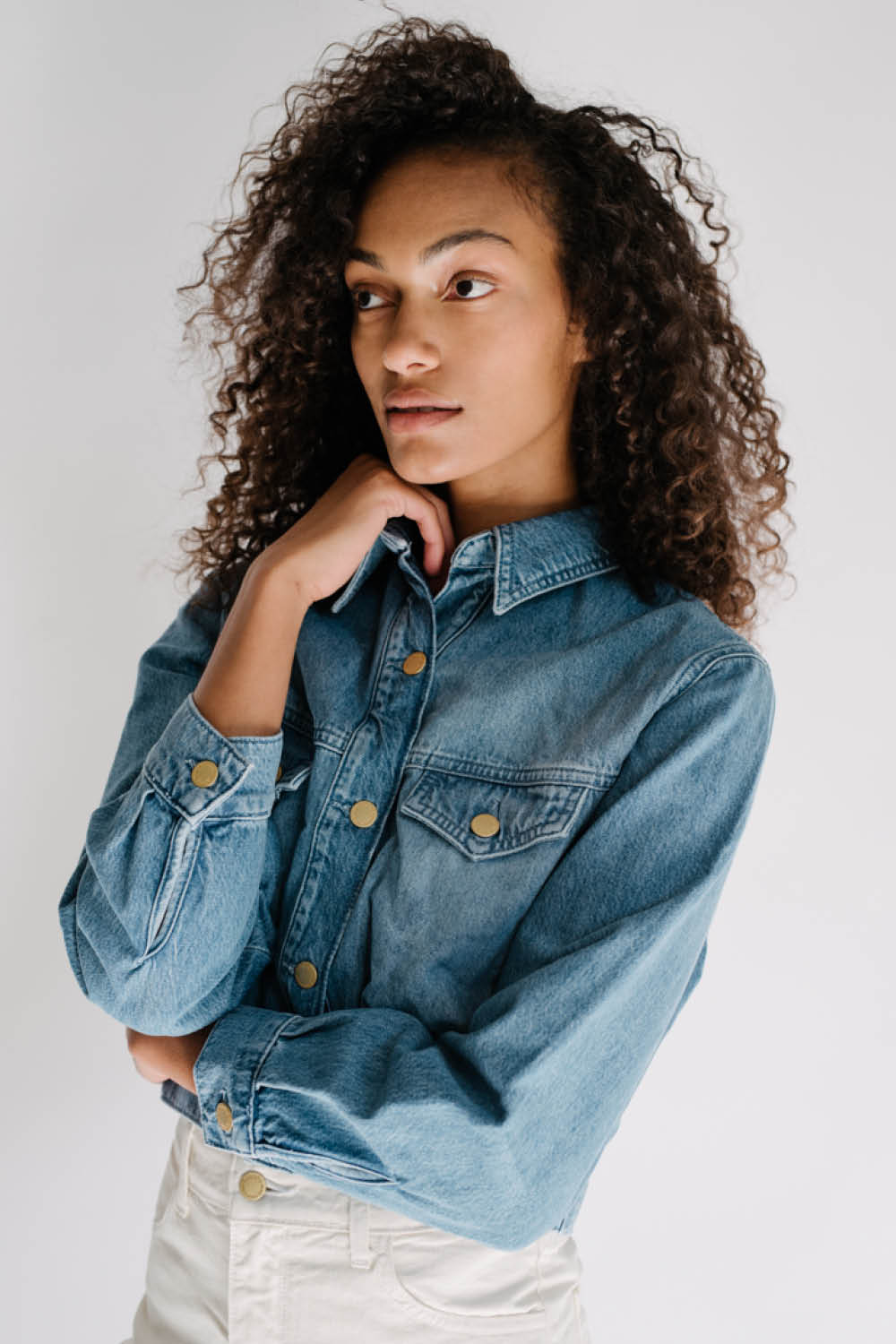 Cropped Denim Jacket