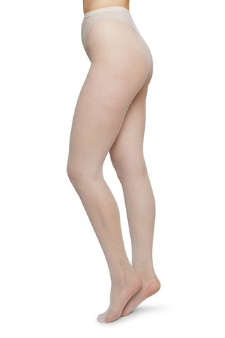 Elvira Net Tights in Ivory