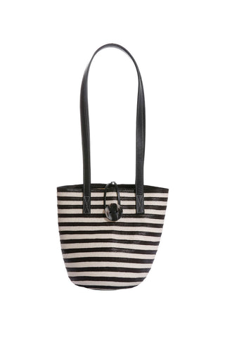 Marcial Mini Tote in Black Stripe