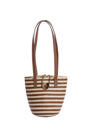 Marcial Mini Tote in Copper Stripe