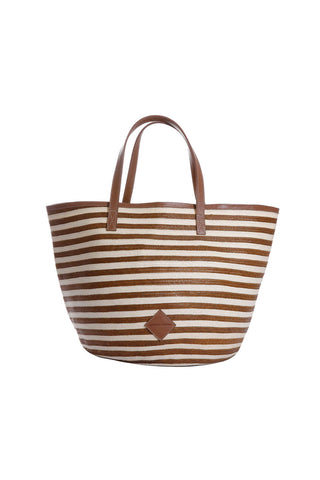Marcial Tote in Copper Stripe