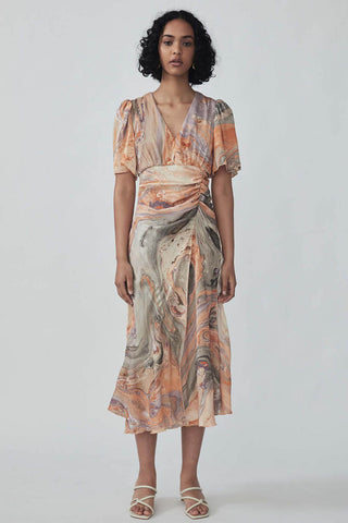 Ibadat Dress in Melon Marble