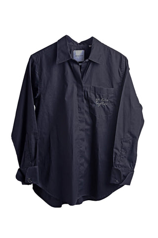 La Coronel Shirt in Black Cotton