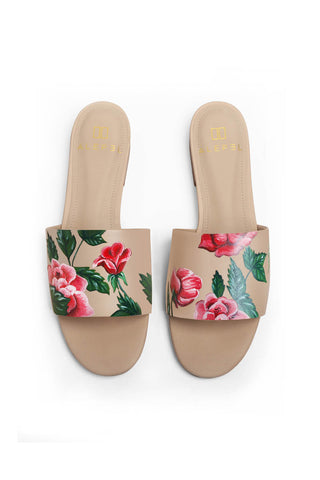 Red Roses Beige Slide
