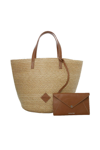 Marcial Tote in Copper Zigzag