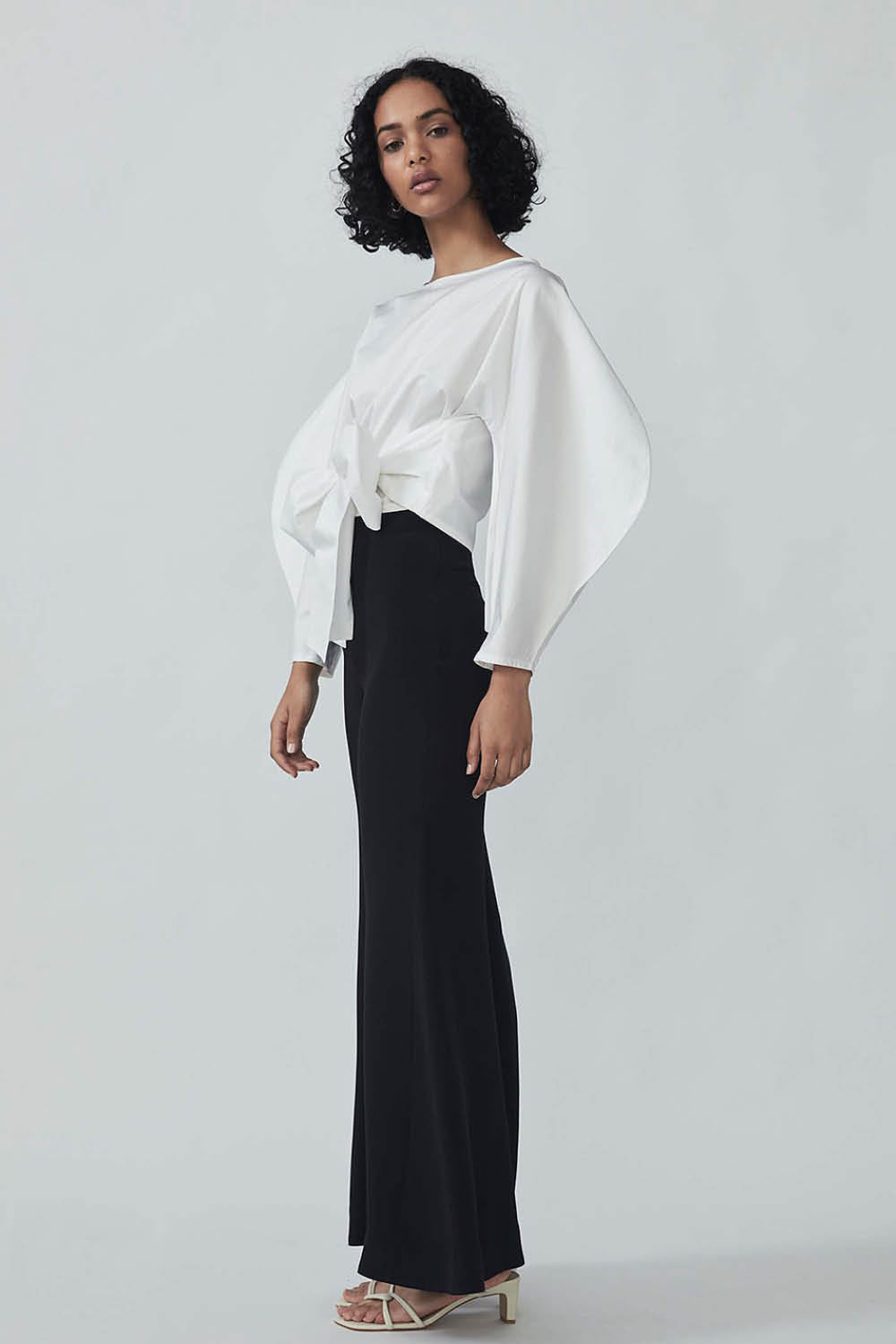 Zain Wrap Top in Blanc