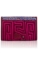 Vintage Clutch in Burgundy & Blue thumbnail