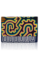 Vintage Clutch in Black & Dark Blue thumbnail