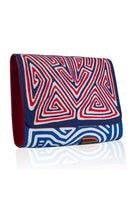 Vintage Clutch in Dark Blue & Red thumbnail