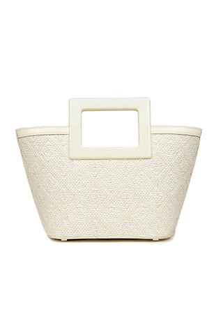 Riviera Micro Bag in White Raffia