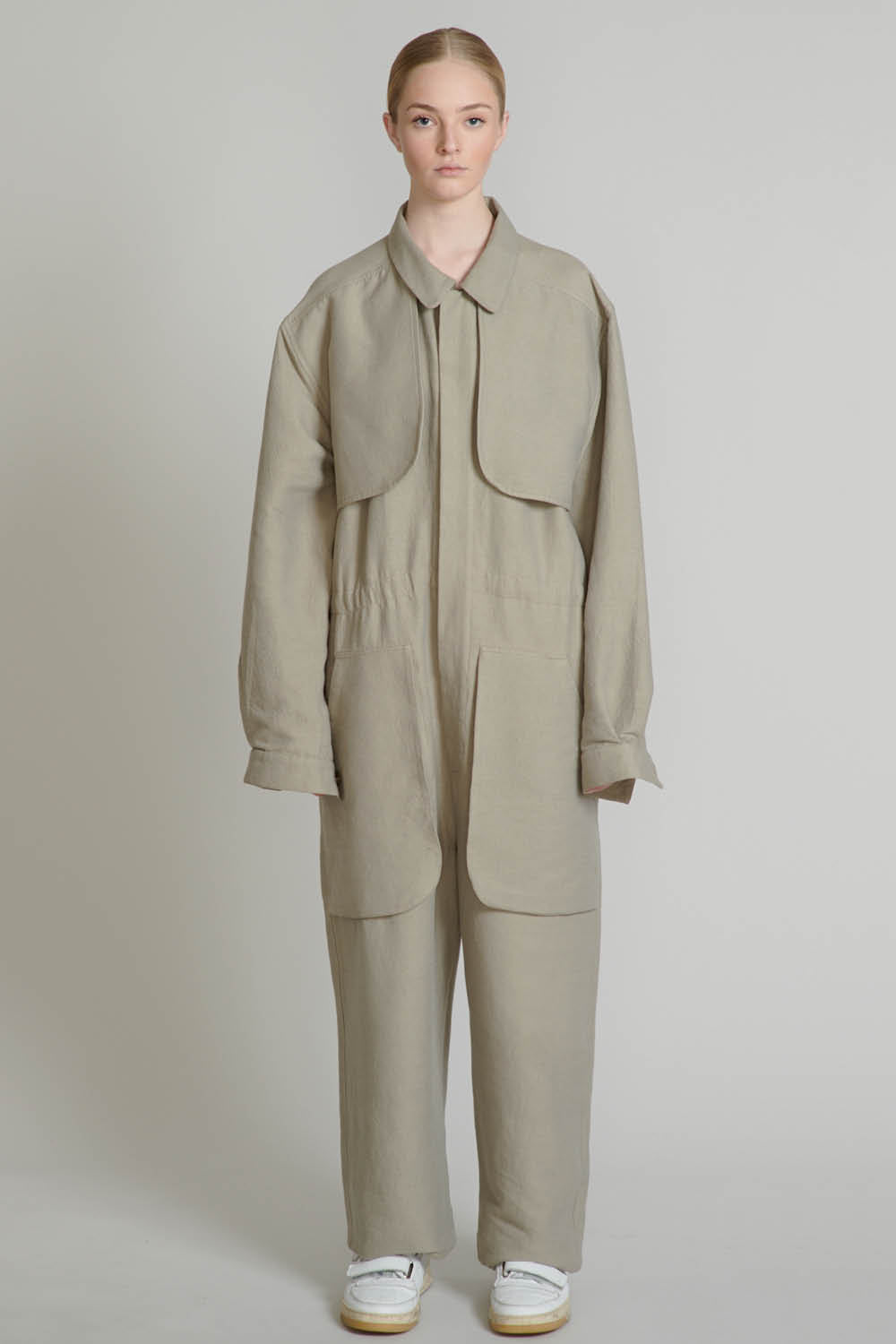 THE COMPOSER JUMPSUIT IN LIGHT GREY